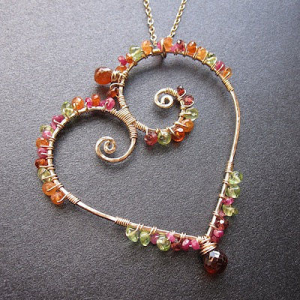 handmade necklaces, earrings, bracelets and rings featuring semiprecious gemstones